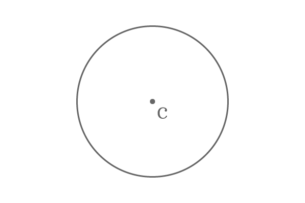 example of centre of a circle