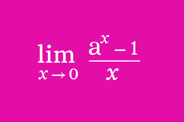 Limit of (a^x-1)/x as x approaches 0