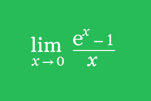 Limit of (e^x-1)/x as x approaches 0
