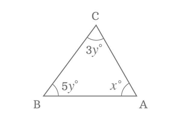 triangle with unknown angles