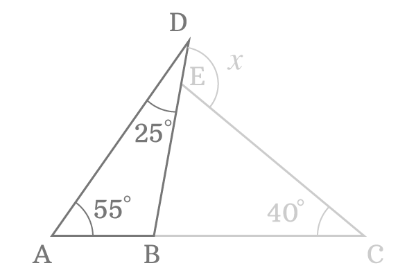 third angle of the first triangle