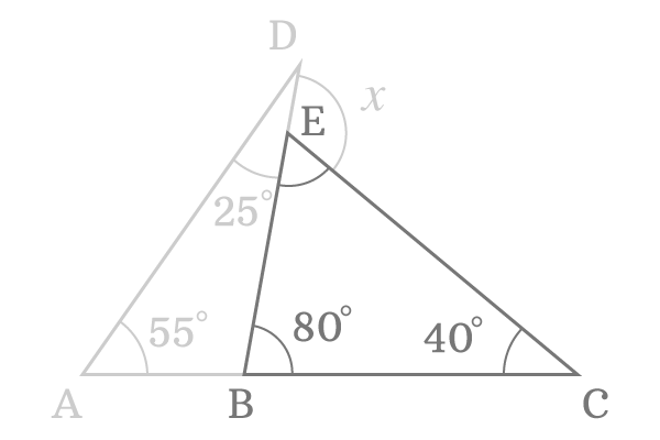 angle of the triangle