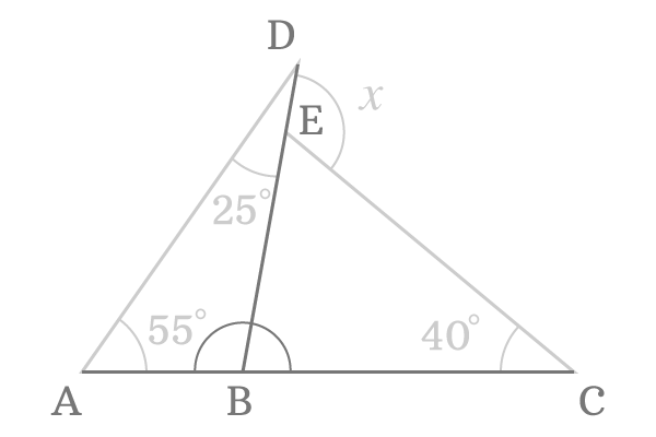 Straight Angle Between Triangles