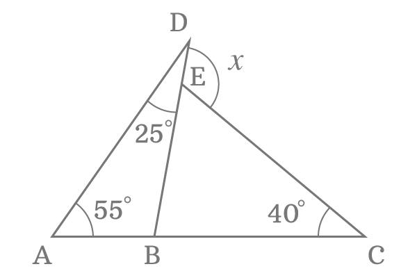 Triangles With Common Unknown External Angle