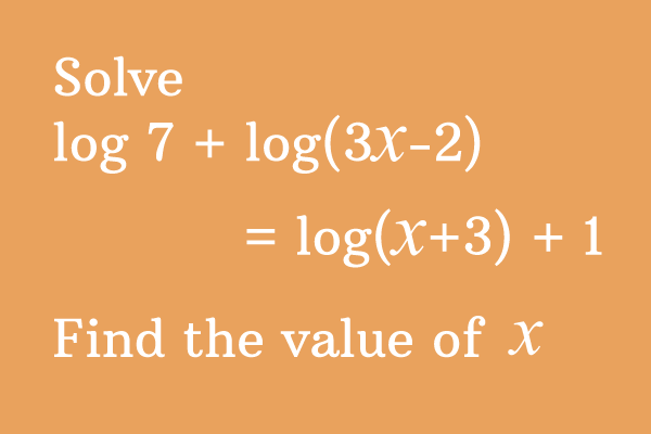 logarithm problem and solution