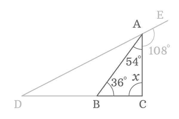 unknown part of the straight angle