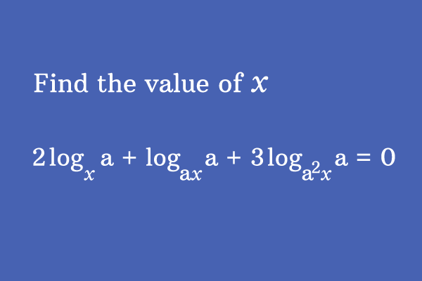 logarithm math problem with solution