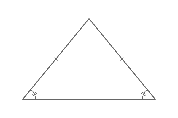 animation of isosceles triangle