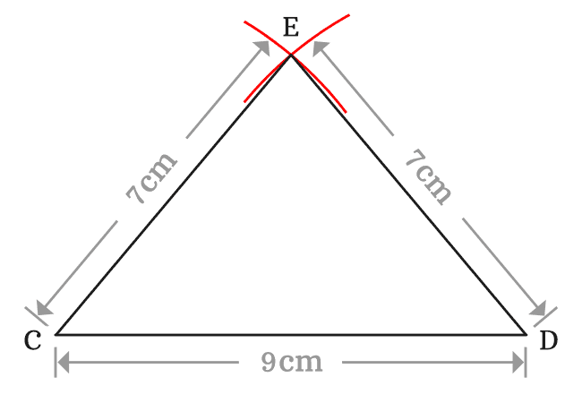 lengths of sides of isosceles triangle
