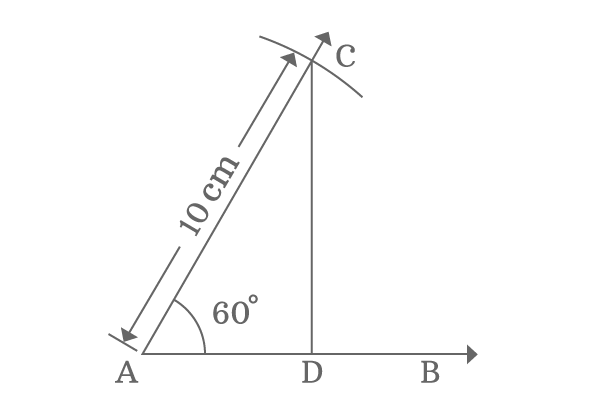 property of sides of right angled triangle when angle equals to 60 degrees