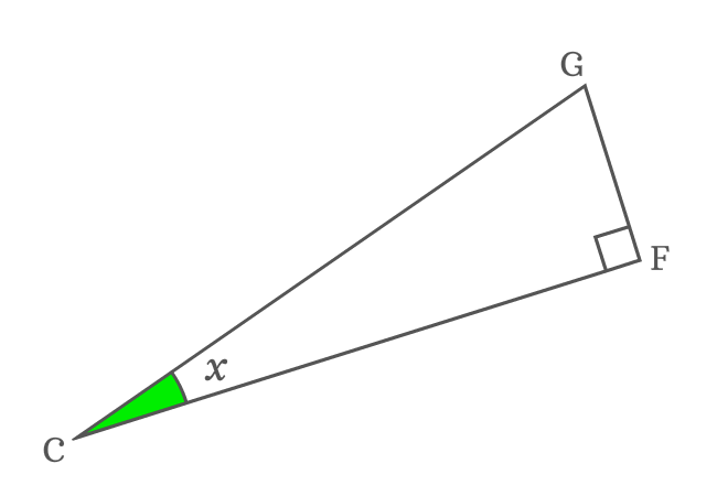 right triangle with angle
