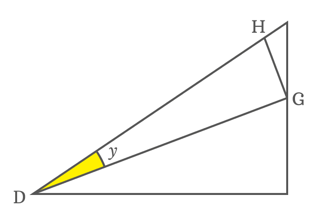 right triangle to express side as cos function