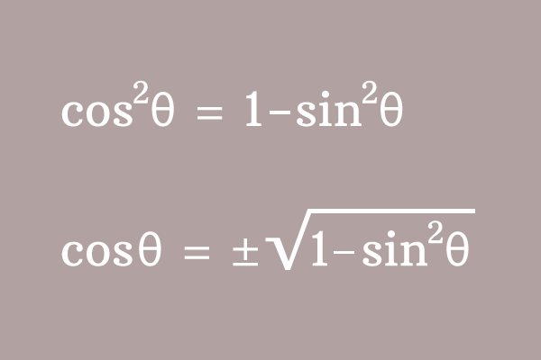 conversion of cos to sin