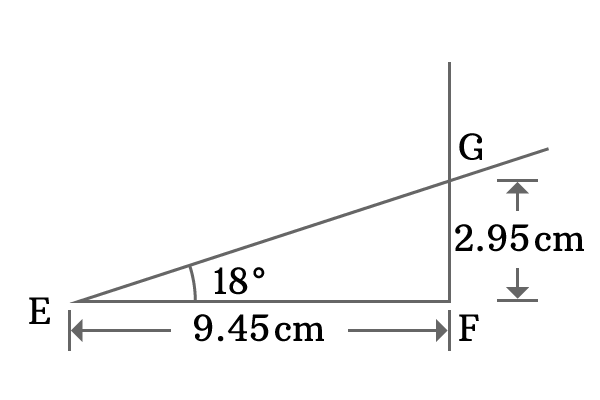 construction of right angled triangle with 18 degrees angle