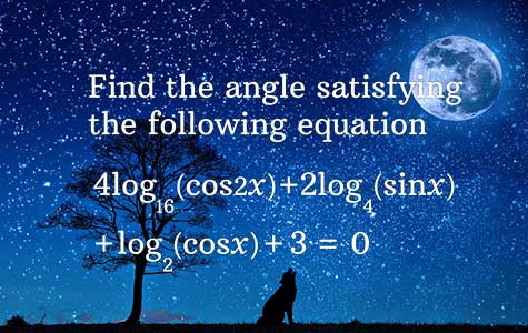 logarithm trigonometry problems