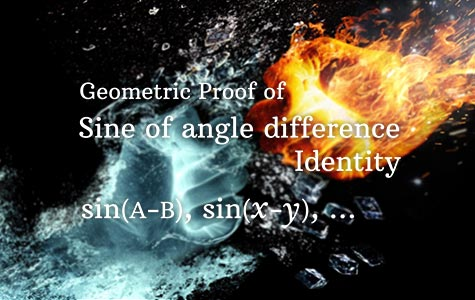 Sine Angle difference identity proof