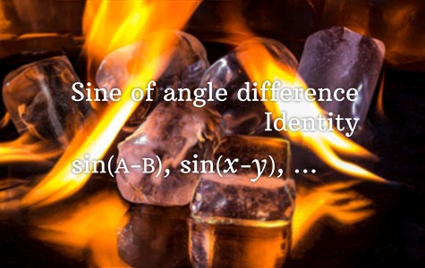 Sine Angle difference identity