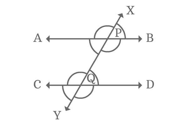 corresponding angles of parallel lines transversal