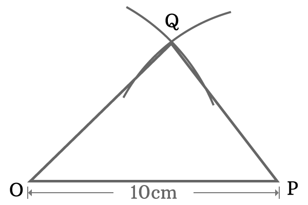 construction of triangle to prove summation of angles is 180 degrees