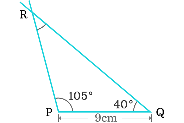 construction of obtuse angled triangle