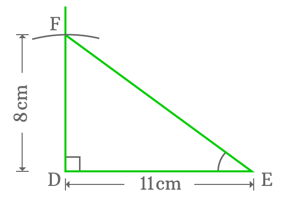 construction of right angled triangle