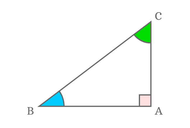 angles of right triangle