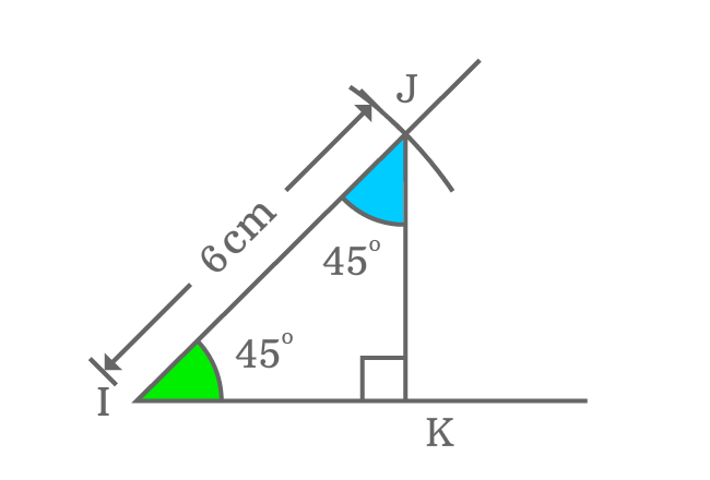 relation between complementary angles of right triangle whose angle equals to 45 degrees