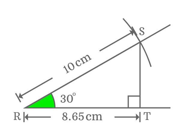 relation between adjacent side and hypotenuse of right triangle whose angle equals to 30 degrees