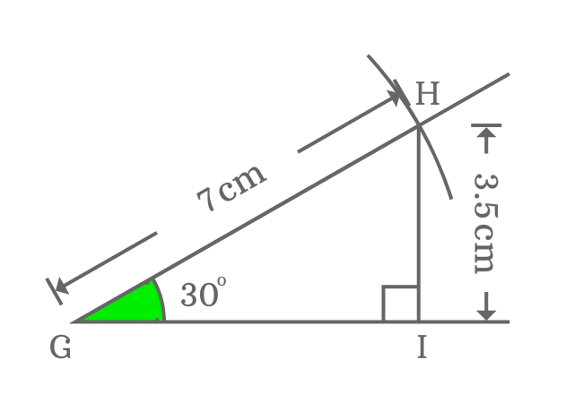 measuring opposite side when angle of right triangle is 30 deg